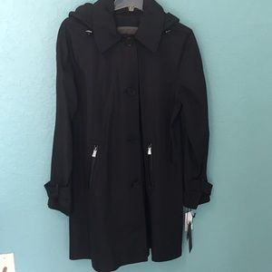 Marc Jacobs black trench coat style jacket size L